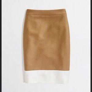 J Crew Colorblock Pencil Skirt